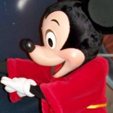 Mickey Mouse casting a spell