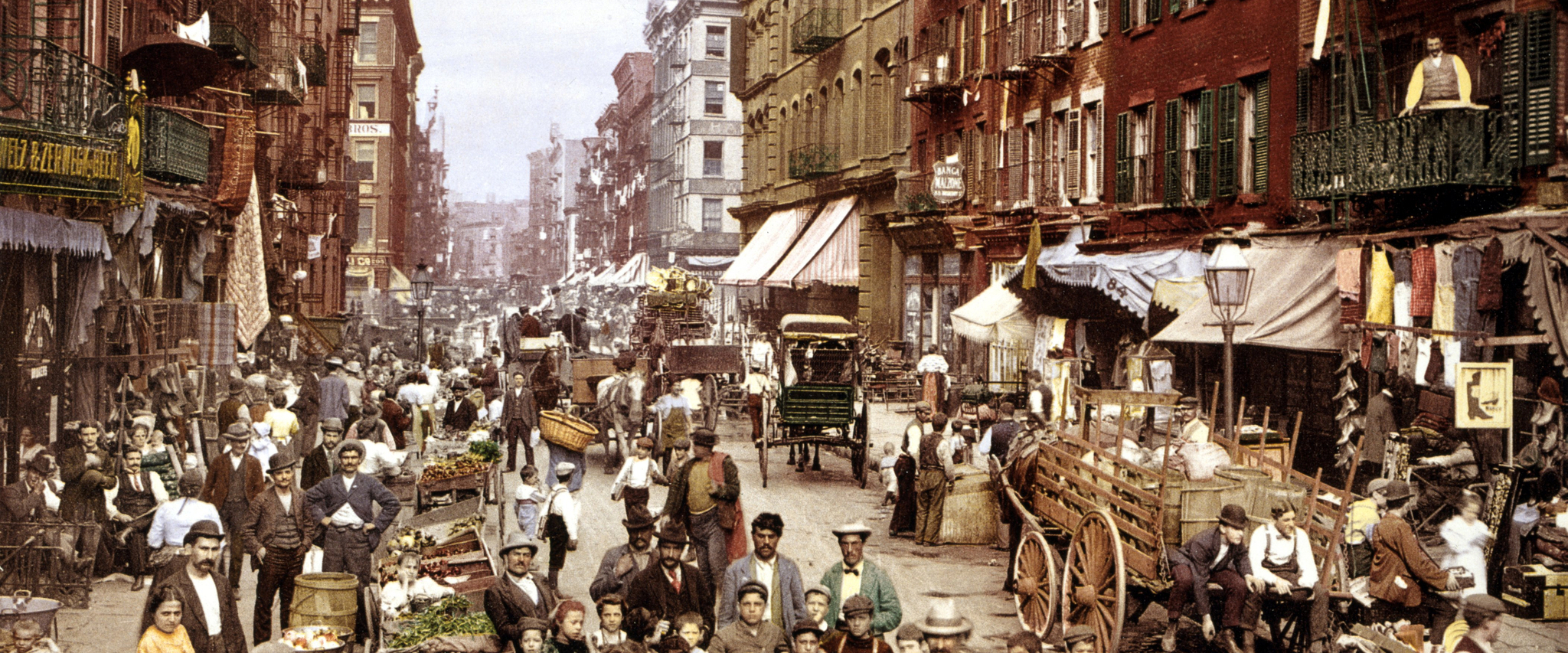New York's Mulberry Street in 1900